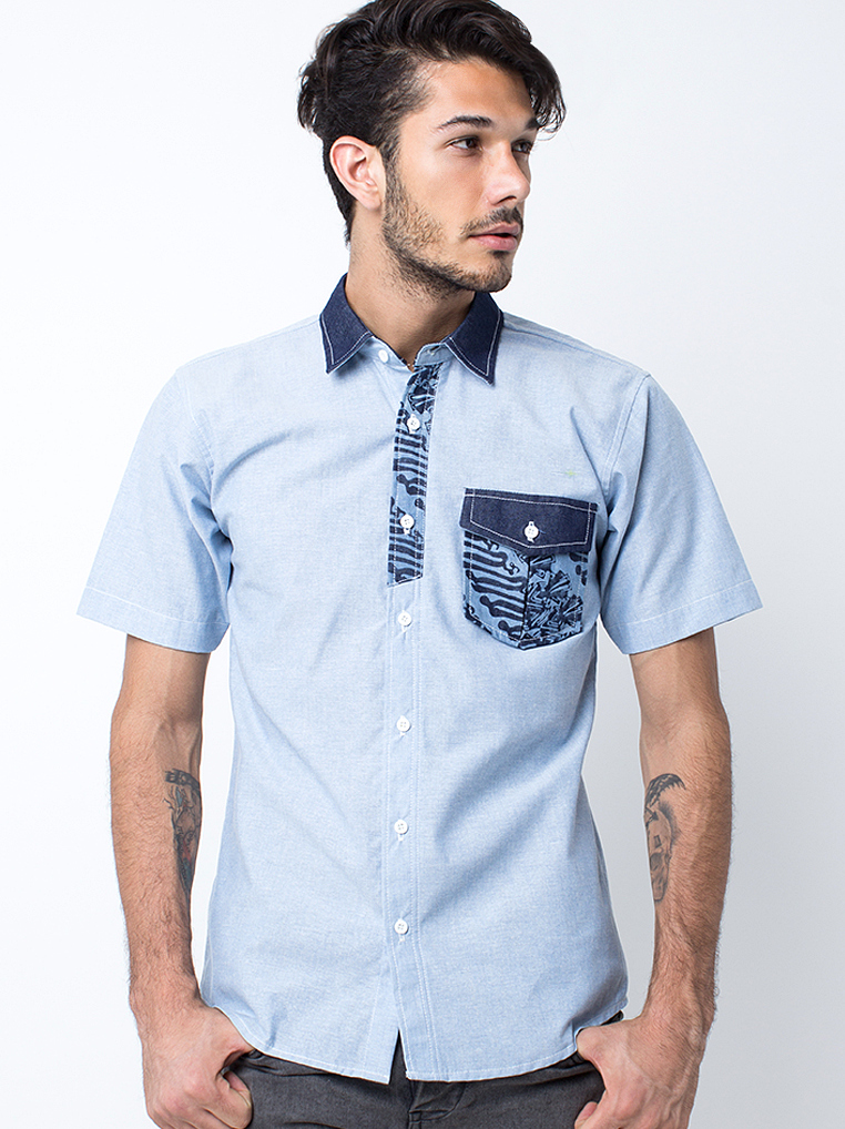 Trappez Shirt [Light Blue]